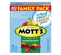 Motts Fruit Flavored Snacks Medleys Assorted Fruit Family Size - 40-0.8 Oz