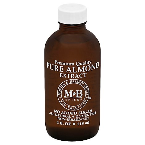 Morton & Bassett Extract Pure Almond - 4 Fl. Oz.
