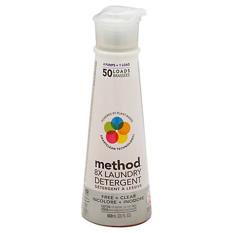 Method Laundry Detergent 8X Free + Clear - 20 Fl. Oz.