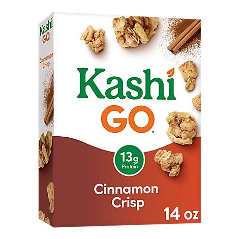 Kashi GO Breakfast Cereal Cinnamon Crisp - 14 Oz