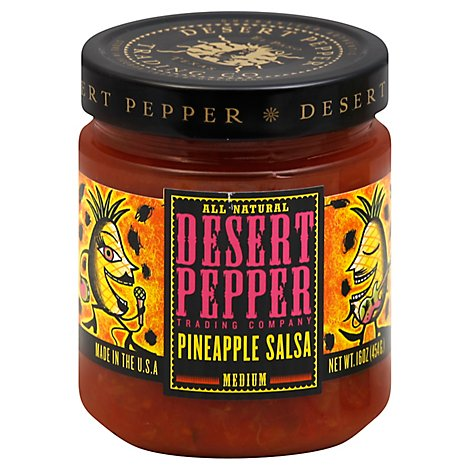 Desert Pepper Salsa Pineapple Medium Jar - 16 Oz