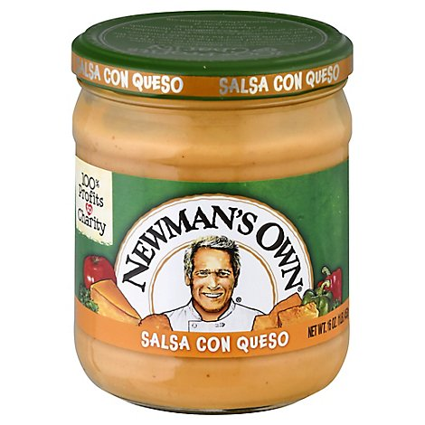 Newmans Own Salsa Medium Salsa Con Queso Jar - 16 Oz