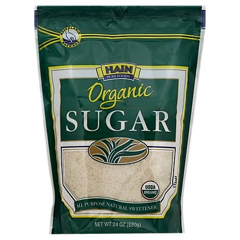 Hain Pure Foods Sugar Organic - 24 Oz.