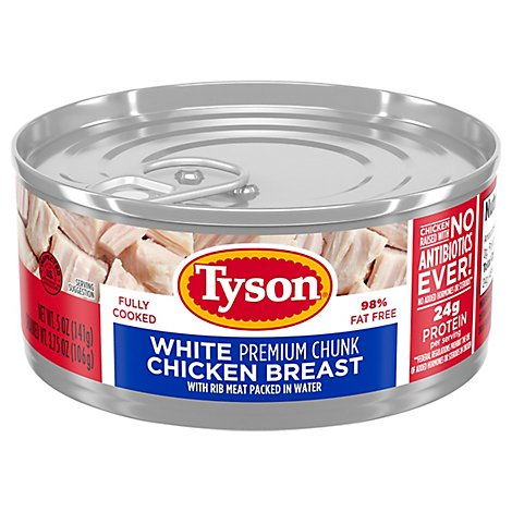 Tyson Chicken Premium Chunk White in Water - 5 Oz