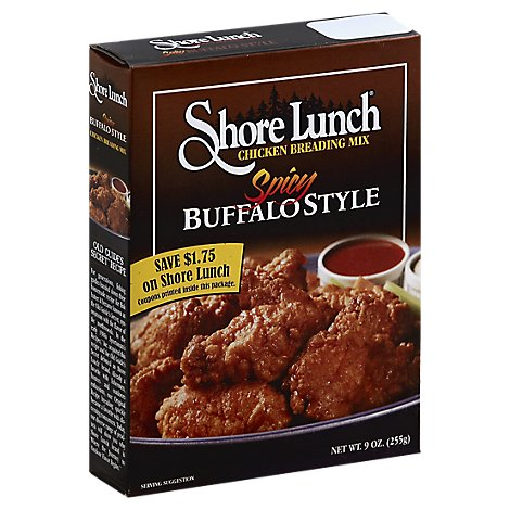 Shore Lunch Breading Mix Chicken Spicy Buffalo Style - 9 Oz