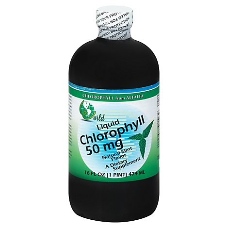 World Organic Chlorophl Mint 50mg - 16 Oz