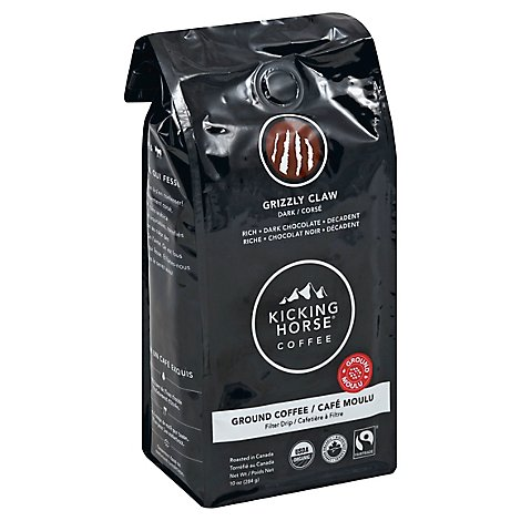 Kicking Horse Coffee Ground Dark Roast Grizzly Claw - 10 Oz
