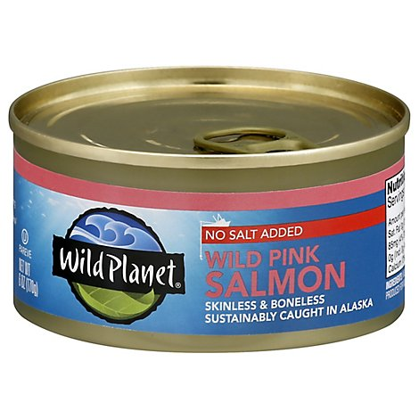 Wild Planet Salmon Pink Wild Boneless & Skinless - 6 Oz