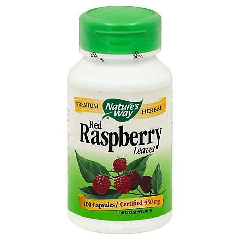 Natures Way Red Raspberry Leaves - 100 Count