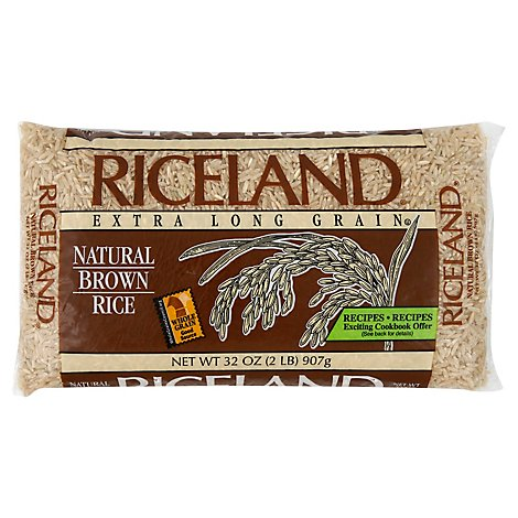 Riceland Rice Brown Natural Extra Long Grain - 32 Oz