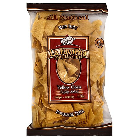 La Favorita Tortilla Chips Lightly Salted Yellow Corn - 16 Oz