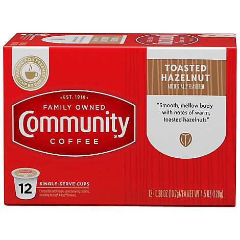 Community Coffee Coffee K-Cup Pods Toasted Hazelnut - 12 Count