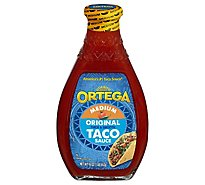 Ortega Taco Sauce Thick & Smooth Original Medium Bottle - 16 Oz