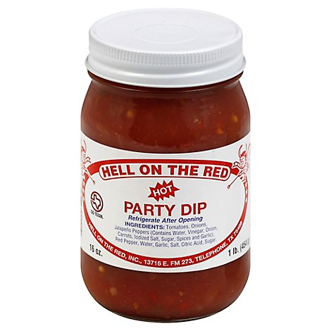 Hell On The Red Dip Party Hot Jar - 16 Oz