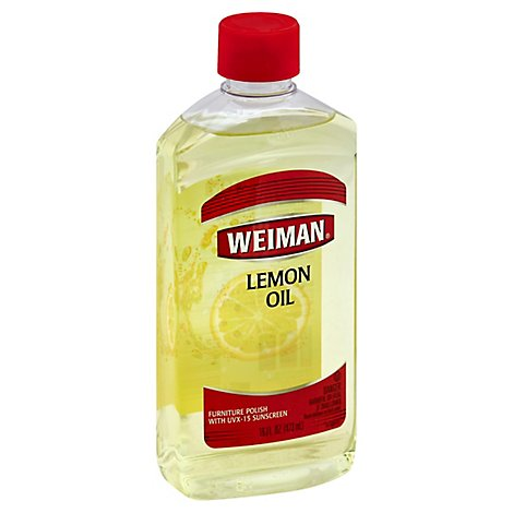 Weiman Natural Lemon Oil Furniture Polish With Sunscreen - 16 Fl. Oz.
