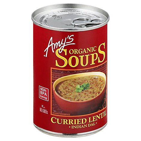 Amys Soups Organic Curried Lentil Indian Dal - 14.5 Oz