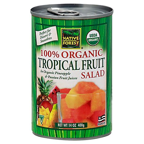 Native Forest Organic Fruit Salad Tropical - 14 Oz