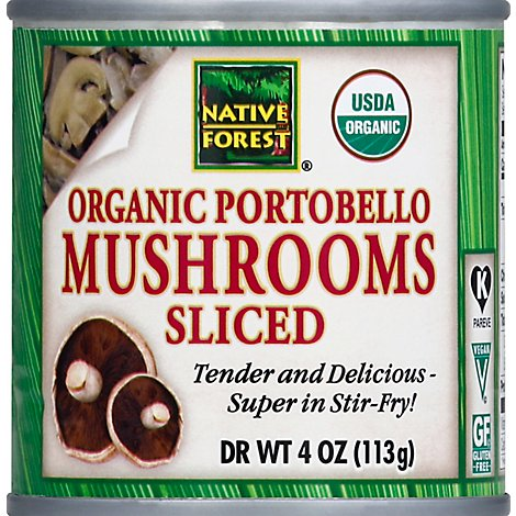 NATIVE FOREST Organic Mushrooms Sliced Portobello - 4 Oz