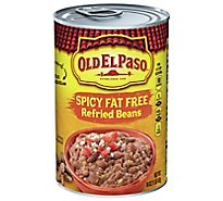 Old El Paso Beans Refried Fat Free Spicy Can - 16 Oz