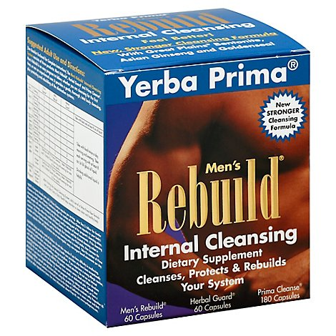 Yerba Prima Cleanse Men Renew Intrnl Kit - 1 Each