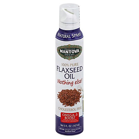 Mantova Nothing Else Flaxseed Oil Spray - 5 Fl. Oz.