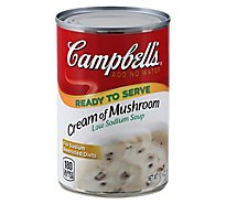 Campbells Soup Ready to Serve Low Sodium Cream of Mushroom - 10.5 Oz