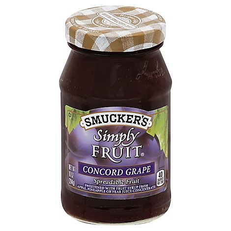 Smuckers Simply Fruit Spreadable Fruit Concord Grape - 10 Oz