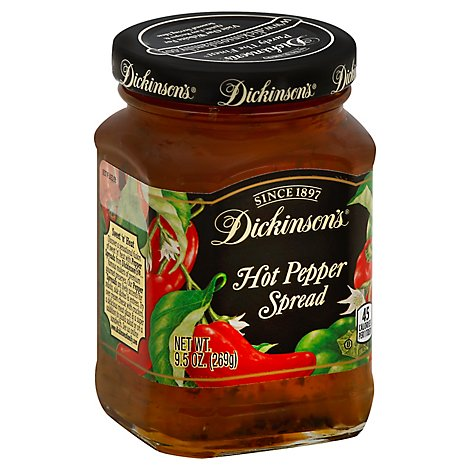 Dickinsons Spread Hot Pepper - 9.5 Oz