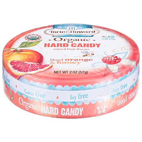 Torie & Howard Organic Hard Candy Blood Orange & Honey - 2 Oz