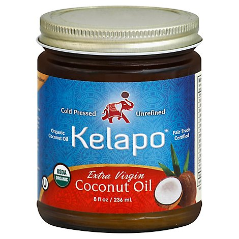 Kelapo Coconut Oil Organic Extra Virgin - 8 Fl. Oz.