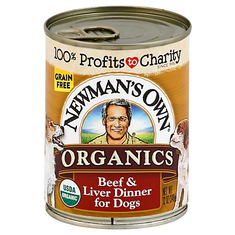 Newmans Own Dog Food Grain Free Beef & Liver Dinner Can - 12 Oz