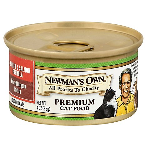 Newmans Own Cat Food Premium Chicken & Salmon Can - 3 Oz
