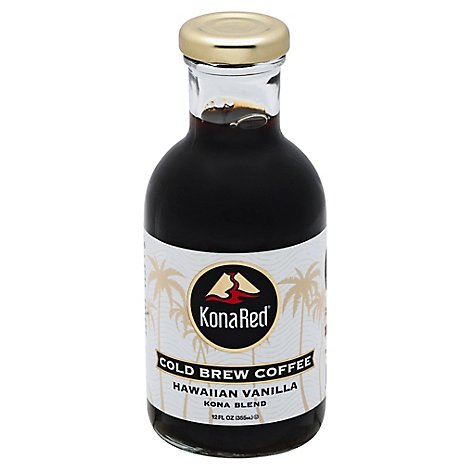 Kona Red Coffee Cold Brew Kona Blend Hawaiian Vanilla - 12 Fl. Oz.