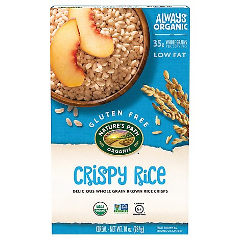 Natures Path Organic Cereal Gluten Free Crispy Rice - 10 Oz