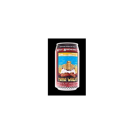 Maui Brews Mana Wheat Cans - 6-12 Fl. Oz.