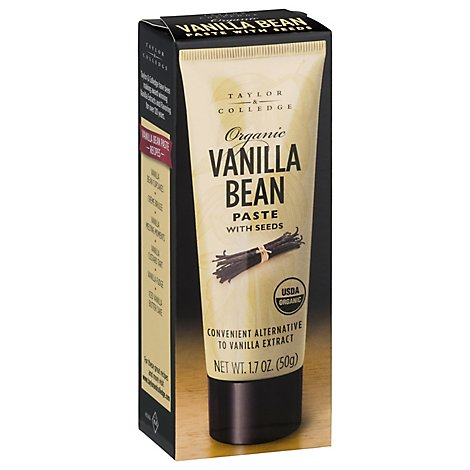 Taylor & Colledge Paste Organic Vanilla Bean With Seeds - 1.7 Oz