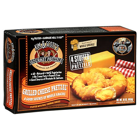 Kim & Scotts Pretzels Gourmet Grilled Cheese 4 Count - 16 Oz