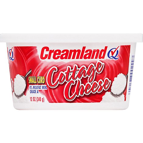 Creamland Cottage Cheese Small Curd 4% Milkfat Min - 12 Oz