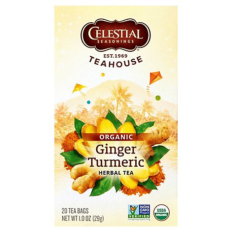 Celestial Seasonings Organics Herbal Tea Organic Ginger & Turmeric - 20 Count