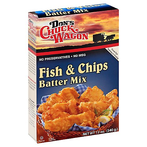 Dons Chuck Wagon Batter Mix Fish & Chips - 12 Oz