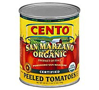 CENTO San Marzano Tomatoes Organic Whole Peeled Can - 28 Oz