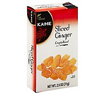 Ka Me Ginger Sliced Crystallized Box - 2.5 Oz