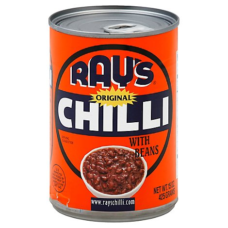 Rays Chili With Beans Original Can - 15 Oz