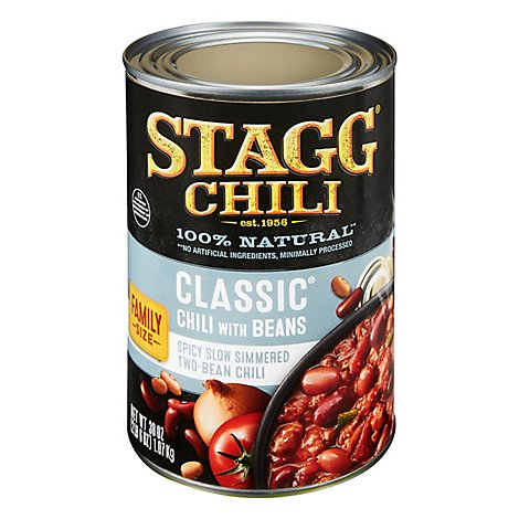 Stagg Chili With Beans Classique Family Size - 38 Oz