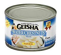 Geisha Water Chestnuts Sliced - 8 Oz
