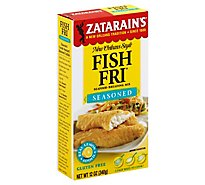 Zatarains New Orleans Style Breading Mix Seafood Fish Fri Seasoned - 12 Oz
