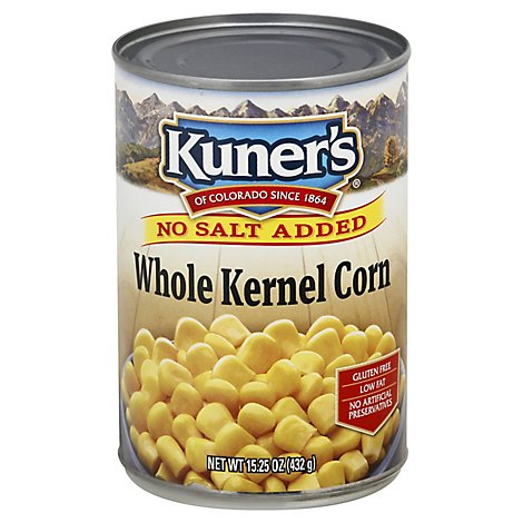 Kuners Corn Whole Kernel Premium Golden Sweet No Salt Added - 15 Oz