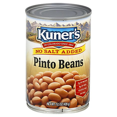 Kuners Beans No Salt Added Pinto - 15 Oz