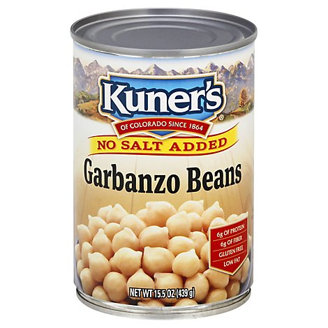 Kuners Beans No Salt Added Garbanzo - 15 Oz
