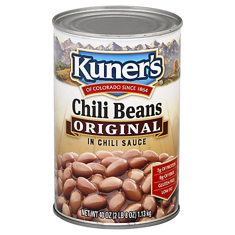 Kuners Beans Chili in Chili Sauce Original - 40 Oz